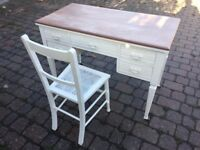 Small (child's?) desk and chair