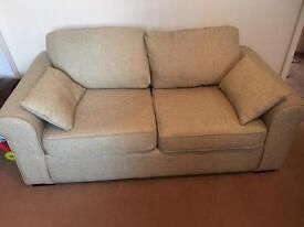 Collection Erinne 2 Seater Fabric Sofa Bed - Linen