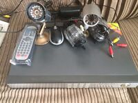 CCTV Kit DVR and 3 cameras cables included