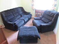 Sofa, Armchair and matching Footstool