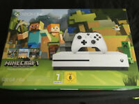 BRAND NEW UNOPENED ] X BOX ONE CONSOLE *** MINECRAFT EDITION {includes full game download)