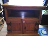 Spanish/ Mexican style solid pine TV,sky,dvd cabinet in excellent clean condition
