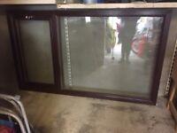 Mahogany pvc window