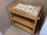 Mamas and papas changing table. Solid wood