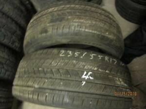 235/55R17 2 ONLY USED MICHELIN ALL SEASON TIRES