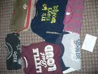 Bundle of 33 boy clothes 9-12mths/ 9-12 mths. VGC! Sleepsuits, bodysuits, jackets, tops, trousers..