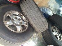 mitsubishi shogun alloys mark 3 tyres as new matching