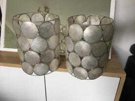 Two matching lamp shades / ceiling light shades