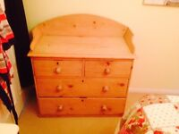 Victorian washstand / baby changing unit