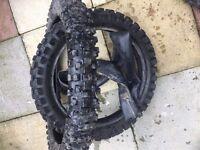 KTM CR YZ KX BIG WHEEL TIRES