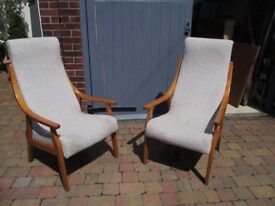Pair of retro style chairs REDUCED TO CLEAR