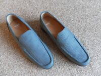MENS CASUAL SHOES, SIZE 6, BLUE, MARKS & SPENCER, SUPER QUALITY, WORN ONCE INDOORS.