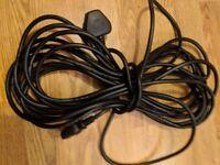 10m 3 pin to UK plug / Ten Metre Kettle Lead - £5