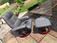 Swivel massage chair and stool