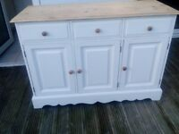 Solid pine sideboard with dove tail joints