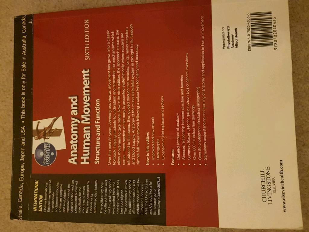 Anatomy And Human Movement 6th Edition Nigel Palastanga In