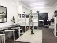Workshop/Creative studio to share - Full time/Part time. London Fields, Hackney, E8 3SE.