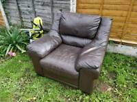 Free brown leather chair
