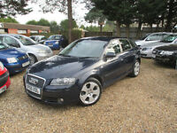 SAT NAV HEATED SEATS AUDI SERVICE HISTORY 1 YEAR MOT 5 DOOR 2.0 TDI 2005 ALLOYS CD PLAYER
