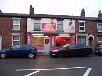 Takeaway for sale with 2 bed Flat above (REDUCED PRICE FOR QUICK SALE)