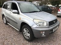 Toyota RAV4 GX VVTI 1998cc Petrol Automatic Estate 03 Plate 12/03/2003 Silver