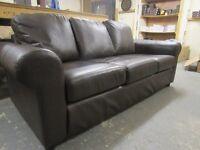 3 seat FAUX leather sofa