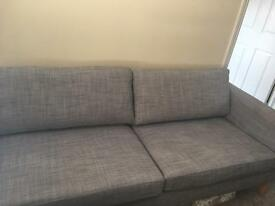 Grey Ikea Sofa - Karlstad Three Seater