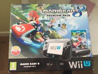 nintendo wii u 32gb boxed with games and controllers VGC