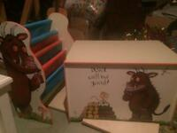 Gruffalo bookcase and toy storage box