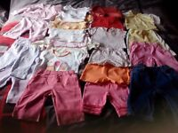 Bargain Bag of Girls Baby Clothes Age 0-6 months. (114 items)