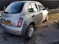 Nissan micra ( full years mot ) 2003 low miles