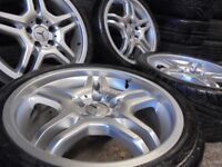 18inch GENUINE AMG mercedes benz ALLOYS WHEELS STAGERED vito S, E ,C CLASS 5x112