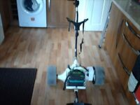 POWERCADDY GOLF TROLLEY WITH BATTERY.