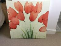 Large poppy canvas From ikea
