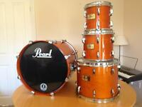 Pearl MMX Masters Maple Drum Shell-pack & Protection Racket cases.