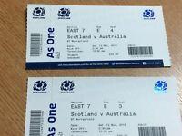 Scotland v Australia Autumn test