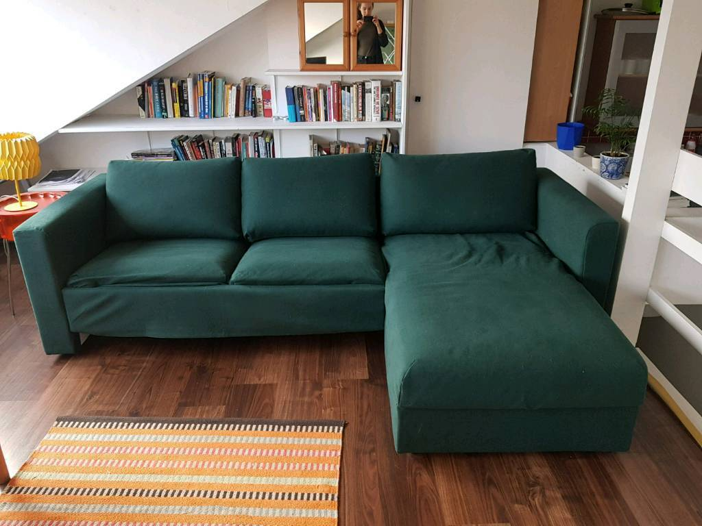 Ikea Vimle L Shaped Dark Green Sofa