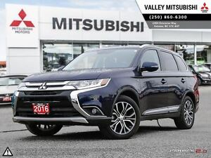 2016 Mitsubishi Outlander GT-LEATHER SEATING, V6, SUNROOF