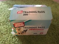 box of 100 puppy training pads