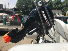 2012 Mercury 30hp EFI fuel injected four stroke power tilt outboard ideal for RIB Inflatable boat