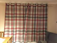 Next Red Cosy Check Thermal Lined Curtains