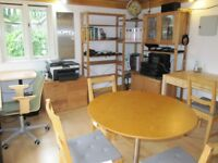 Flexible Work Space set in a landscaped garden in the centre of Send for rent by the day.