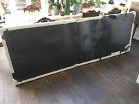 Dark oak laminate large - suit table or worktop. Size: 242cm x 84cm Still wrapped.