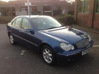 MERCEDES C220 CDI AUTOMATIC 53 PLATE 1 YEARS MOT LOW MILES EXCELLENT RUNNER £1400