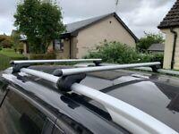 M-WAY Eagle Aluminium Roof Bars 1.20m for raised roof rails