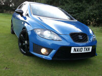 "L@@K SEAT LEON FR 2.0 TDI 200 BHP FACELIFT RARE BLUE REVO REMAP LOWERED 18"" ALLOYS LOW MILES golf a3"