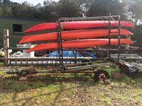 Sea kayak trailer/rack
