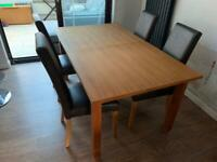 Next dining table (6-8) and 6 chairs REDUCED FOR QUICK SALE