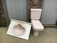 ARMITAGE SHANKS TOILET WITH MATCHING BASIN AND WORKTOP