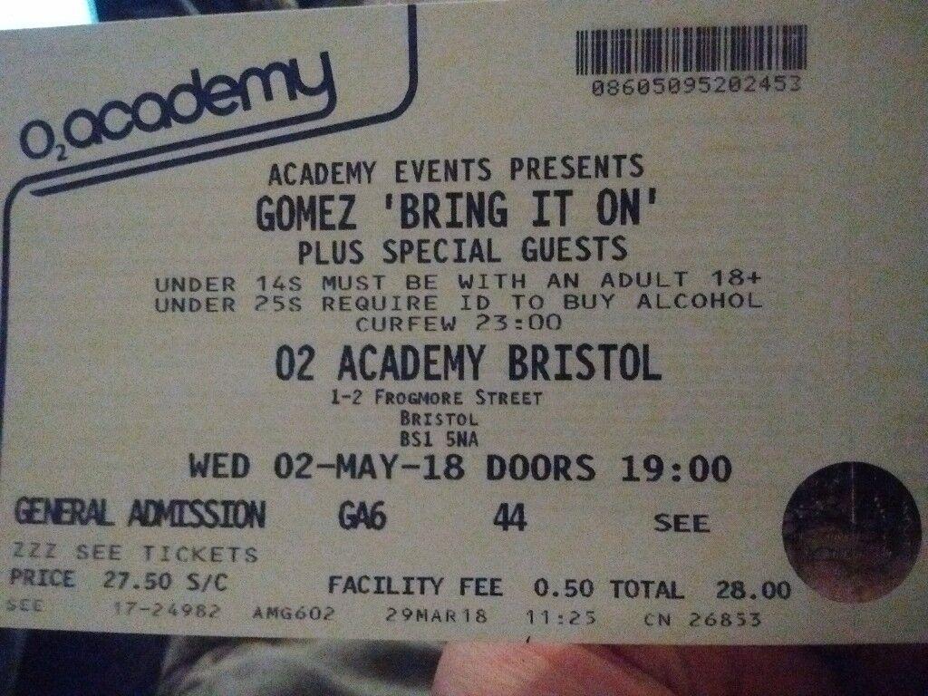 Gomez Tickets Bristol